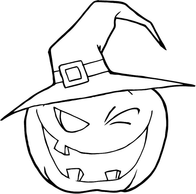 halloween pumpkins coloring pages - photo #7