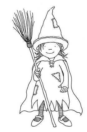 Halloween coloring book page