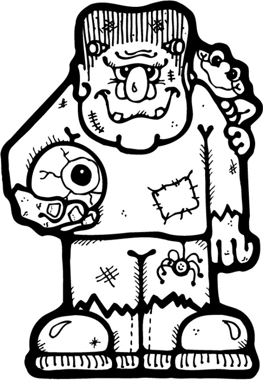 Frankenstein coloring for Frankenstein coloring book pages