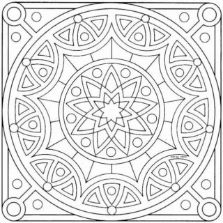 Geometry and mandala coloring pages